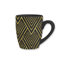 Black and yellow mug