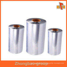 factory packaging material clear thermal semi-tube film PVC shrink film for bottle packaging from China