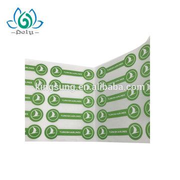 impresión adhesiva de papel etiquetas turcas aerolínea