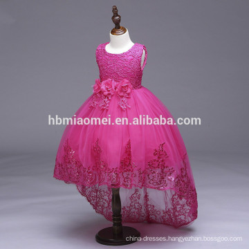 Spring and summer sequins embroidered fishtail baby girl wedding dress