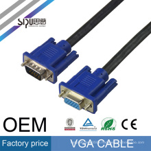 SIPU high quality flexible M/M M/F best price 15pin braid 3+6 vga cable