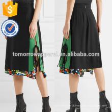 Nova Moda Em Camadas Impresso Crepe Lápis Saia DEM / DOM Fabricação Atacado Moda Feminina Vestuário (TA5116S)