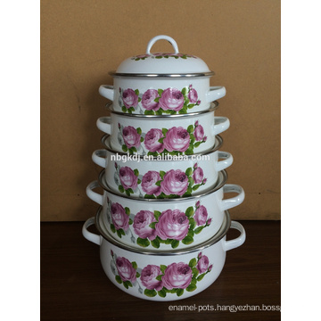 new product custom enamel strait pot & Chinese enamelware