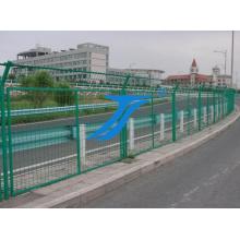 Valla de seguridad de valla de alambre soldado con autógena del PVC