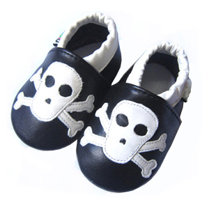 2016 Halloween Äkta Läder Soft Infant Shoes Baby