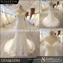 Nuevo llega el vestido de boda verdadero del látex del cuadro en guangzhou