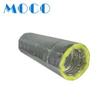 Hvac Fire Resistant Fiberglass Insulation Aluminum Pipe Acoustic Insulated Flexible Duct