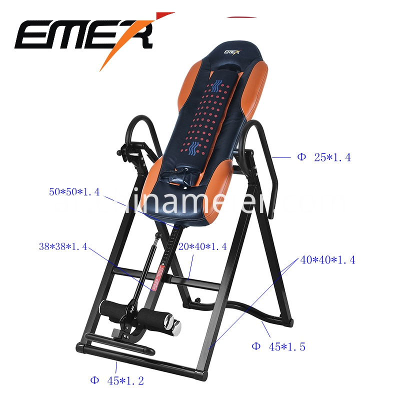 inversion table with massage