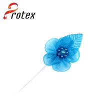Turquesa cor atacado organza fita organza tecido artesanais flores