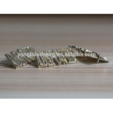 hot selling clothing accessory metal garments label with alphabet letter