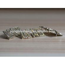 Горячая продажа мешок аксессуары мешок металла этикетка с буквой алфавита