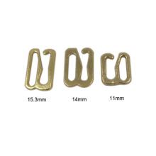 Ajusteur de boucle de soutien-gorge en métal d'or de vente promotionnelle de haute qualité