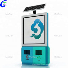 Caja de luz solar lateral de la papelera de publicidad exterior