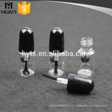 Botella de esmalte de uñas vacía por encargo clara 3ml con el cepillo