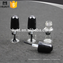3ml clair fait sur commande vide bouteille de vernis à ongles avec brosse