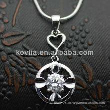 Dubai heißesten CZ Diamant 925 Sterling Silber Anhänger