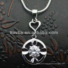 Dubai hottest CZ diamond 925 sterling silver pendants