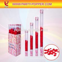 Hochzeitspopper mit transparenter Röhre