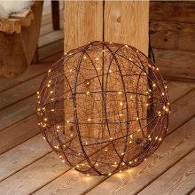 3D led metal Ball shape Motif festival light