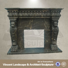 Black fireplace mantel,Marble fireplace mantel, fireplace mantels VFM-NB057A