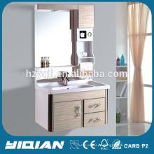 Diseño moderno de la pared de la pared del PVC reflejado con el almacenaje que afeita Gabinetes de baño impermeables del PVC