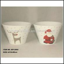 Cuenco cónico de Navidad con hermoso diseño de calcomanía para BS12056A