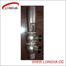 Válvula de inversión soldada neumática sanitaria Ss304