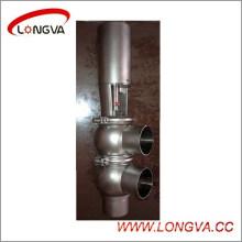 Ss304 Sanitary Pneumatic Welded Reversing Valve