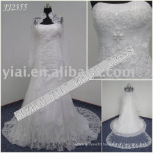 2011 latest elegant drop shippiong freight free ball gown style 2011 beaded lace mermaid wedding dress JJ2355