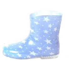 Baby's Star Lining Pvc Rain Boots
