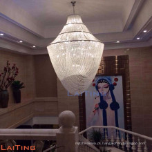 Hotel extra grande lustre de cristal personalizável