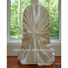 self-tie back chair cover,CT450 satin chair cover,universal chair cover