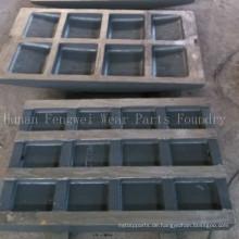 Bergbaumaschinenteile Hersteller von Backenbrecherplatten Casting Foundry