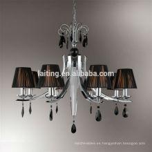 Lámpara de Art decó antigua de cromo pulido para pasillo