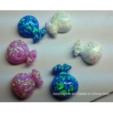 Created Opal Chinese Fu Bag for Jewelry Setting