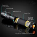 LED Military Tactical Zoom Flashlight with Rechargeable Battery Charger X800