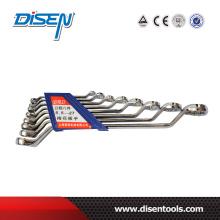 Ensemble en acier inoxydable chromé standard 10PCS Ensemble d'outils à double anneau