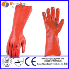 Interlock liner PVC coated safety gloves with high quality