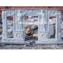 White Marble Fireplace Surround Mantel (SY-MF009)