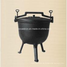Gusseisen Holländischer Ofen / Kessel mit drei Beinen