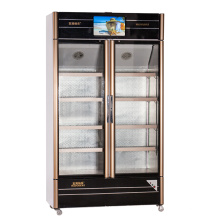 560L Opening Glass Door Multimedia Showcase with LED Screen