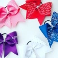 Fleurs cheerleaders cheer bow crystal transfer