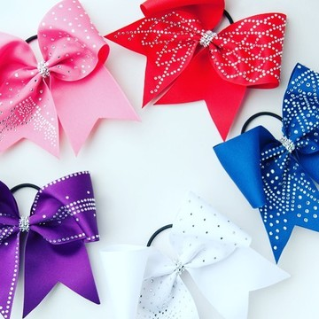 flowers cheerleaders cheer bow crystal transfers