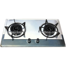 2 Burners 710 Length Color-Coated Stainless Steel Built-in Hob/Gas Hob