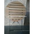 3 Stück Portable Holz Dining Klapptisch und Stuhl Set, Party Tische und Stühle