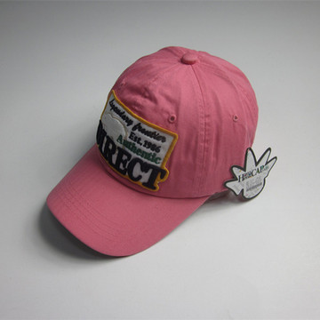 Adult Pink Patch Sports Cap Wholesale