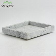 Elegant natural carrara marble tray with popular design