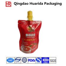 Kundenspezifischer hergestellter Plastik / metallisierter / Folien-Tüllen-Beutel für Ketschup / Mayonnaise
