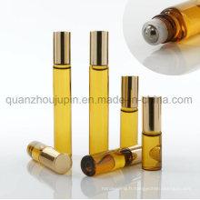 Bouteille cosmétique en verre de rouleau de boule d'huile essentielle d'huile d'OEM