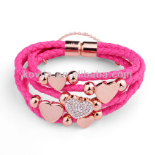 NH00773 girl favorite braided leather bracelet for party
